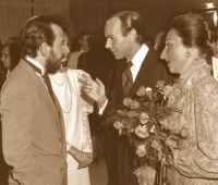 The Dukes of Soria, Urbano Galindo and his spouse Eugenia at the Génova Financial Club