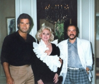 Zsa-Zsa Gabor , Edward Lozzi and Urbano Galindo