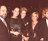 Isabel Preysler and Urbano Galindo, Influence Awards, with the Portabellas and Galindo´s spouse Eugenia in the center
