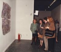Victoria Visedo and María Eulalia Miró next to Urbano Galindo and his spouse at the De la Villa Cultural Center