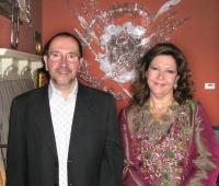 HRH Princess Sharifa Nur Nasser and Urbano Galindo
