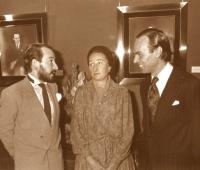 Los Duques de Soria y Urbano Galindo en la presentación de sus retratos en el Club Financiero Génova