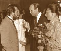 Los Duques de Soria, Urbano Galindo y su mujer Mª Eugenia Blázquez en el Club Financiero Génova