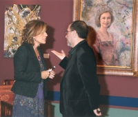 Ana Botella y Urbano Galindo en una exposición del artista