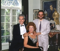 Mrs Paul Getty, Mr Blackwell y Urbano Galindo